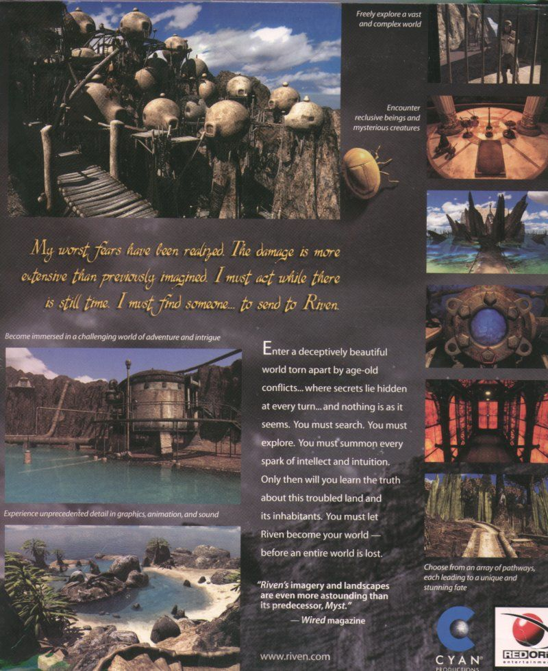 Riven: The Sequel to Myst Macintosh Back Cover