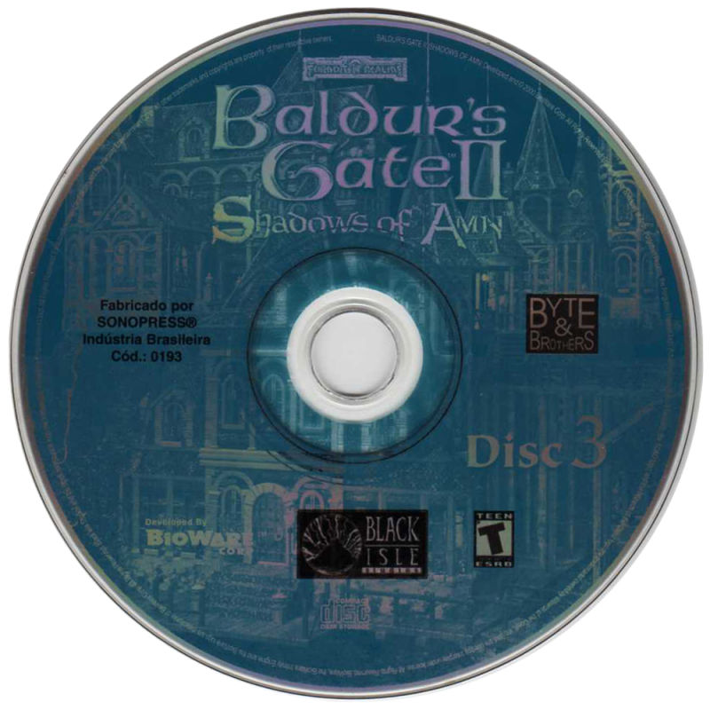Baldur's Gate II: Shadows of Amn Windows Media Disc 3