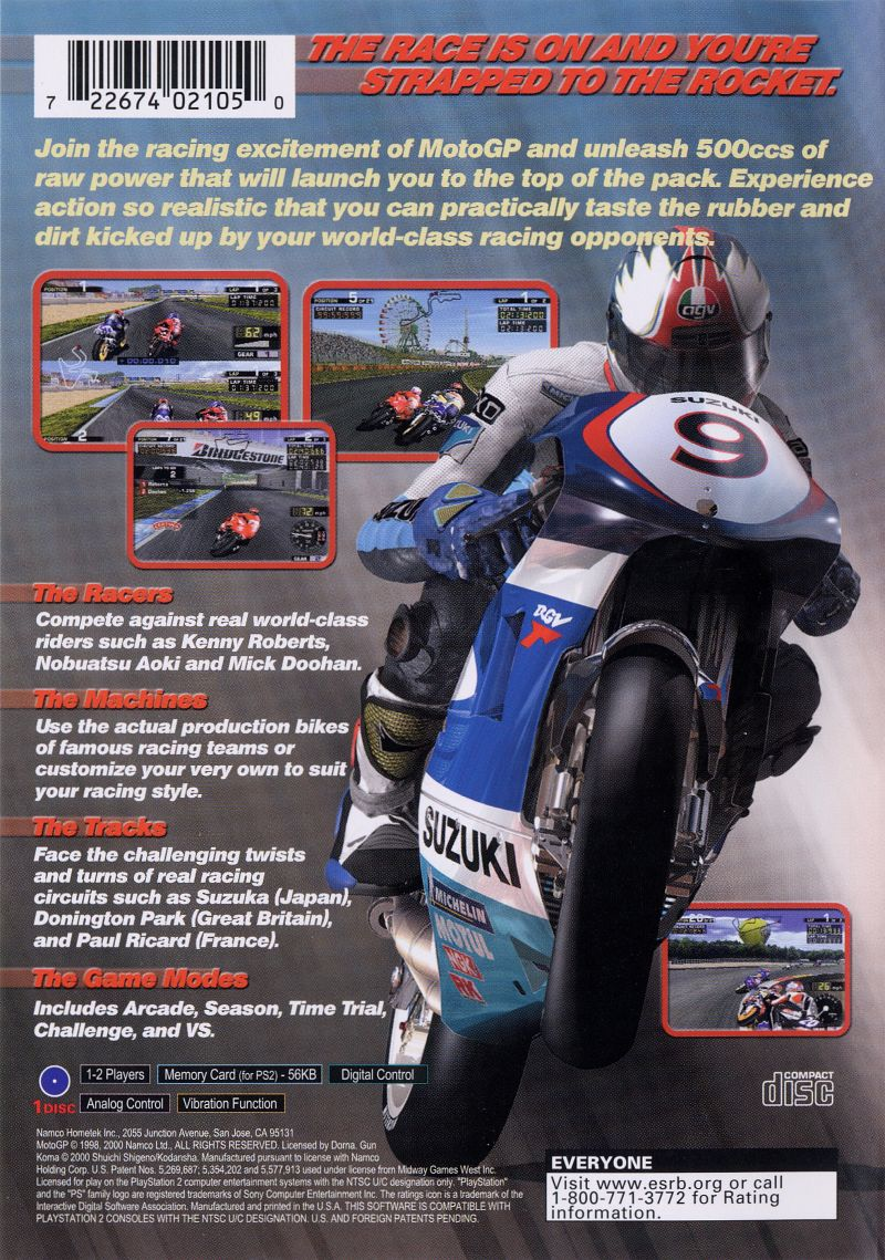 MotoGP (2000) PlayStation 2 box cover art - MobyGames