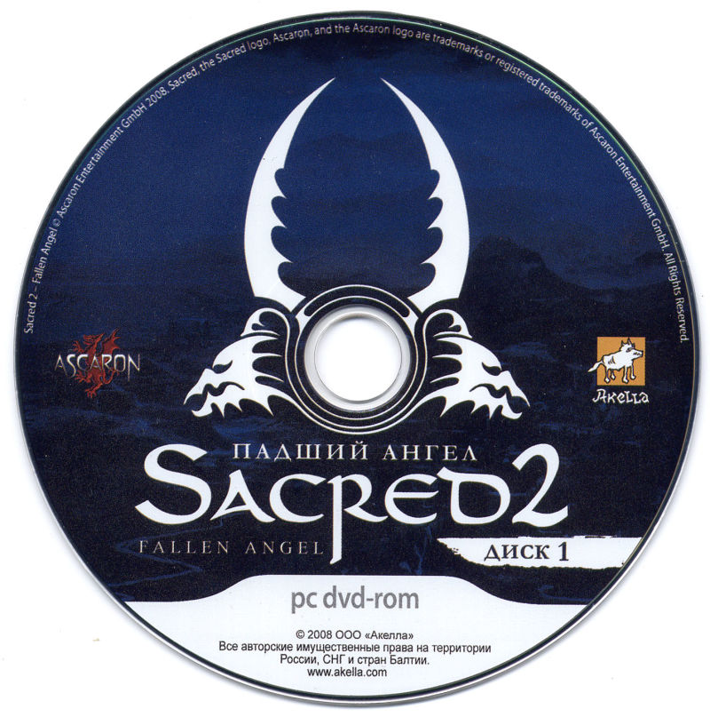 Sacred 2: Fallen Angel Windows Media Game Disc 1/2