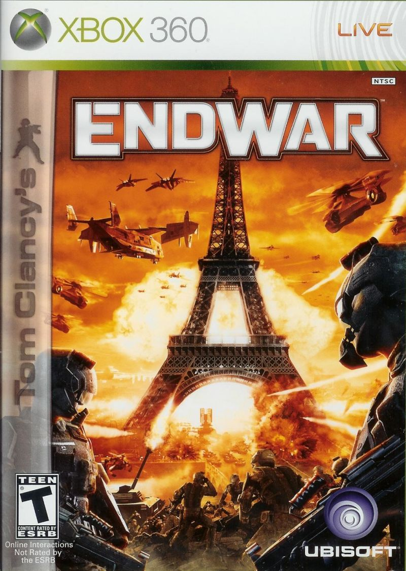 Book Cover Pictures Xbox : Tom clancy s endwar xbox box cover art mobygames