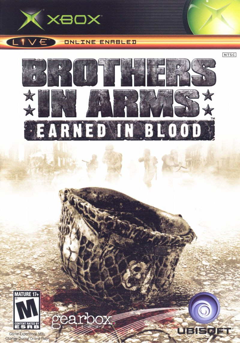 Brothers in Arms: Earned in Blood Xbox Front Cover