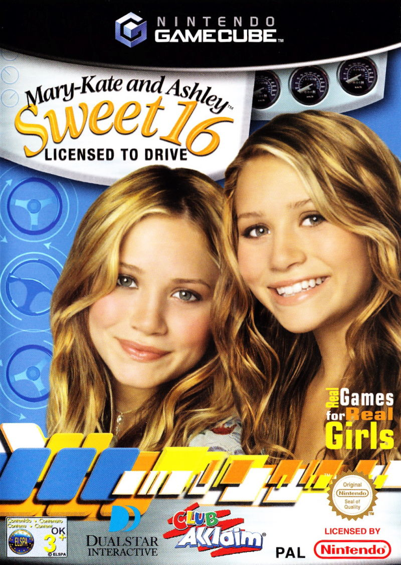 Mary-Kate and Ashley: Sweet 16: Licensed to Drive GameCube Front Cover