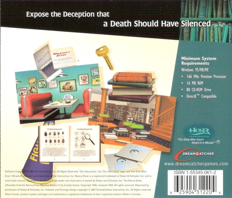Nancy Drew: Secrets Can Kill Windows Other Jewel Case - Back