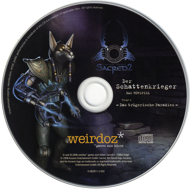 Sacred 2: Ice & Blood Windows Media Audio Book disc