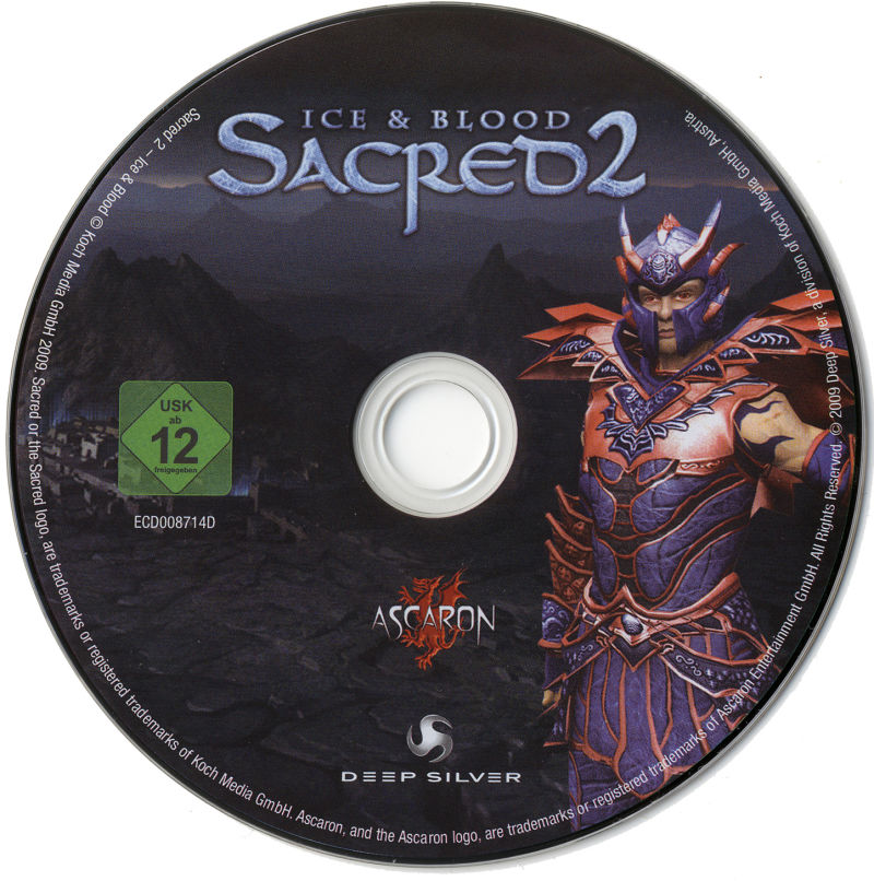 Sacred 2: Ice & Blood Windows Media Game disc