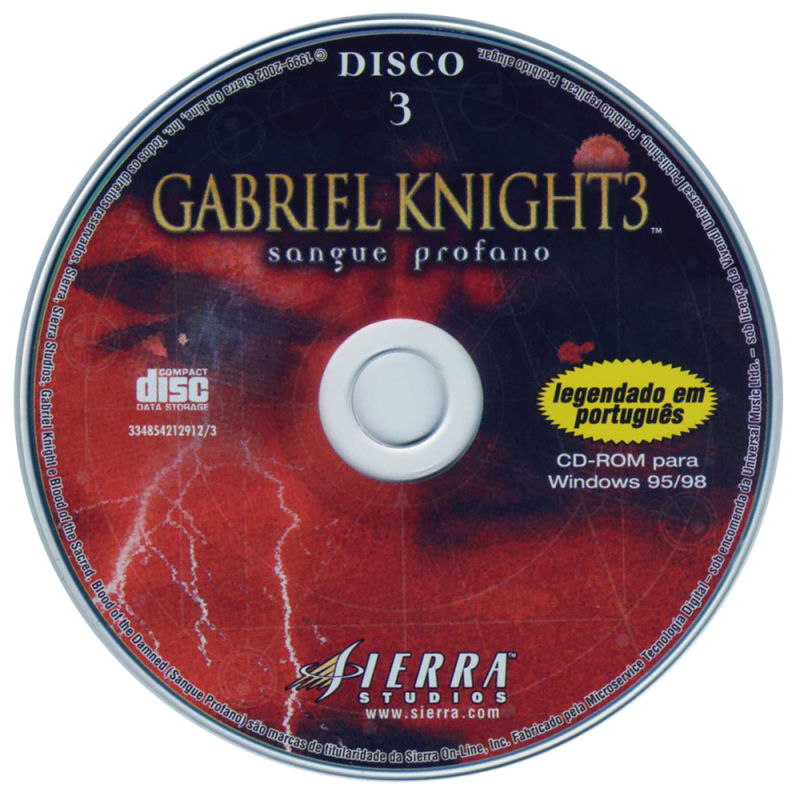 Gabriel Knight 3: Blood of the Sacred, Blood of the Damned Windows Media Disc 3