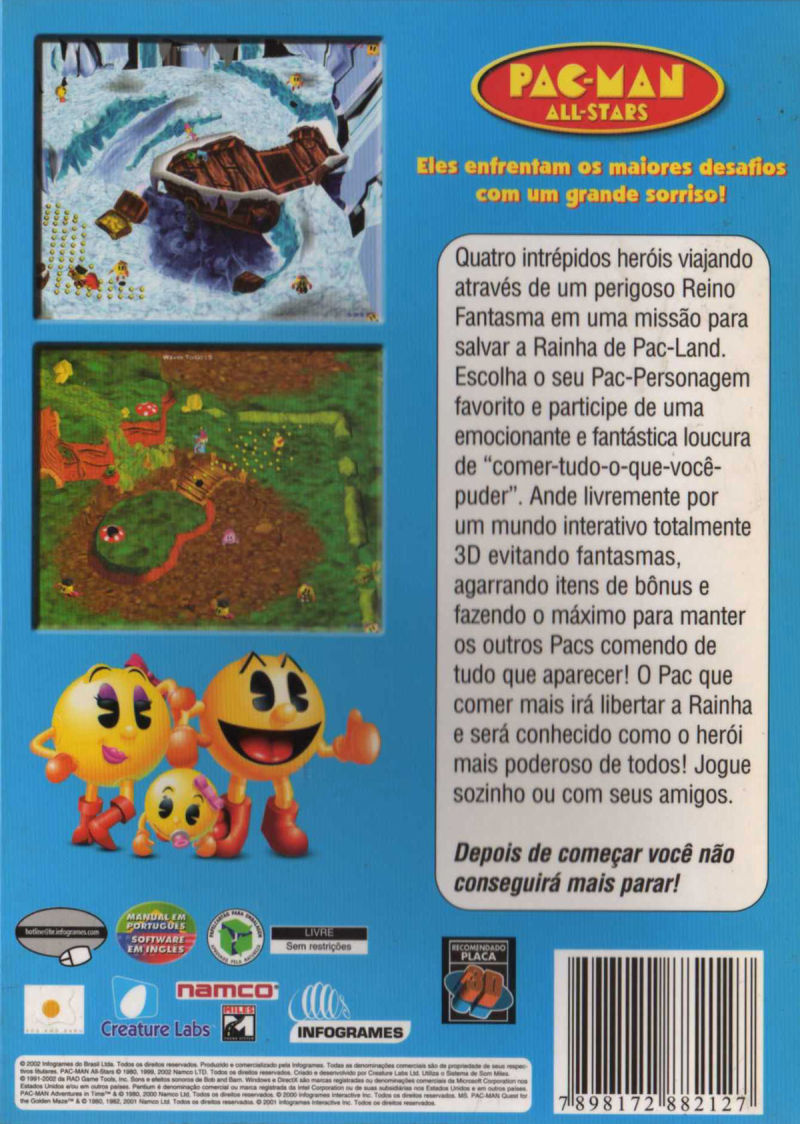 Pac-Man All-Stars Windows Back Cover