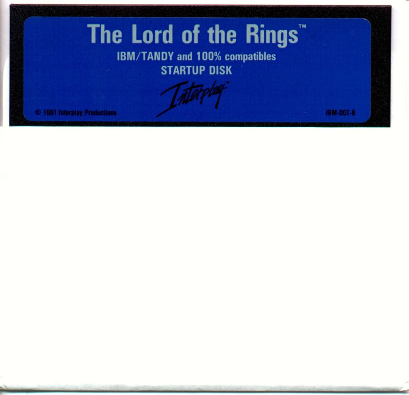 J.R.R. Tolkien's The Lord of the Rings, Vol. I DOS Media Disk 1/2
