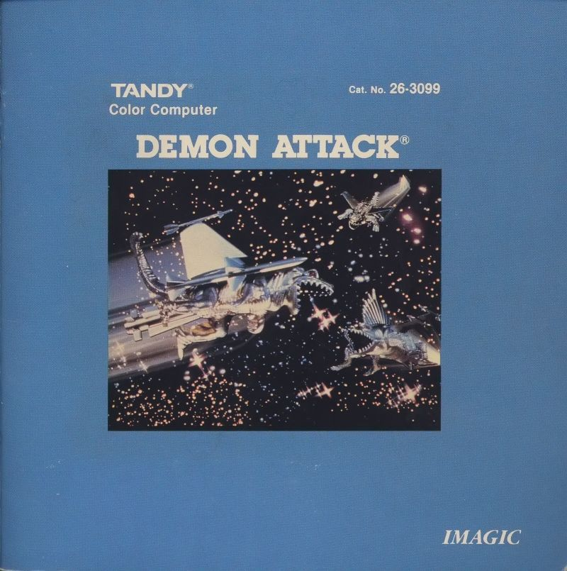 Demon Attack TRS-80 CoCo Front Cover