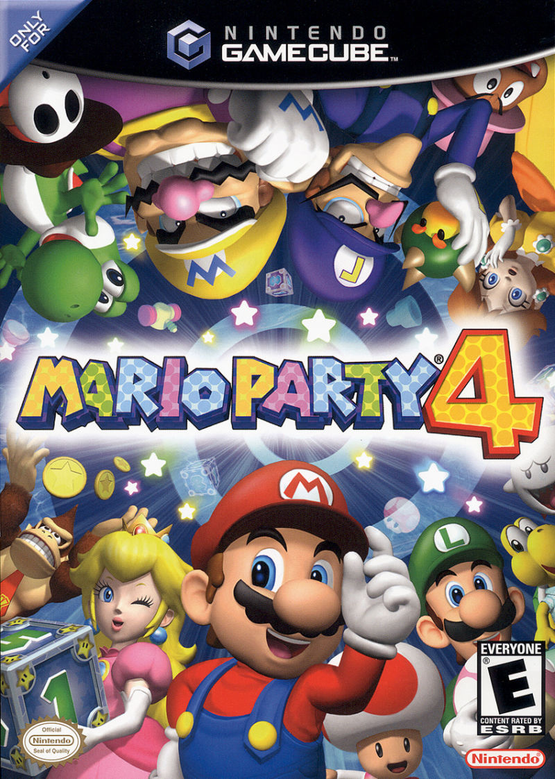 Mario Party 4 GameCube Front Cover