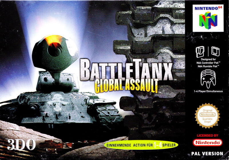 BattleTanx: Global Assault Nintendo 64 Front Cover