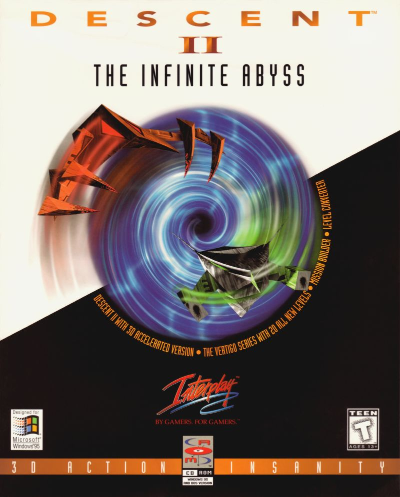 Descent II: The Infinite Abyss DOS Front Cover