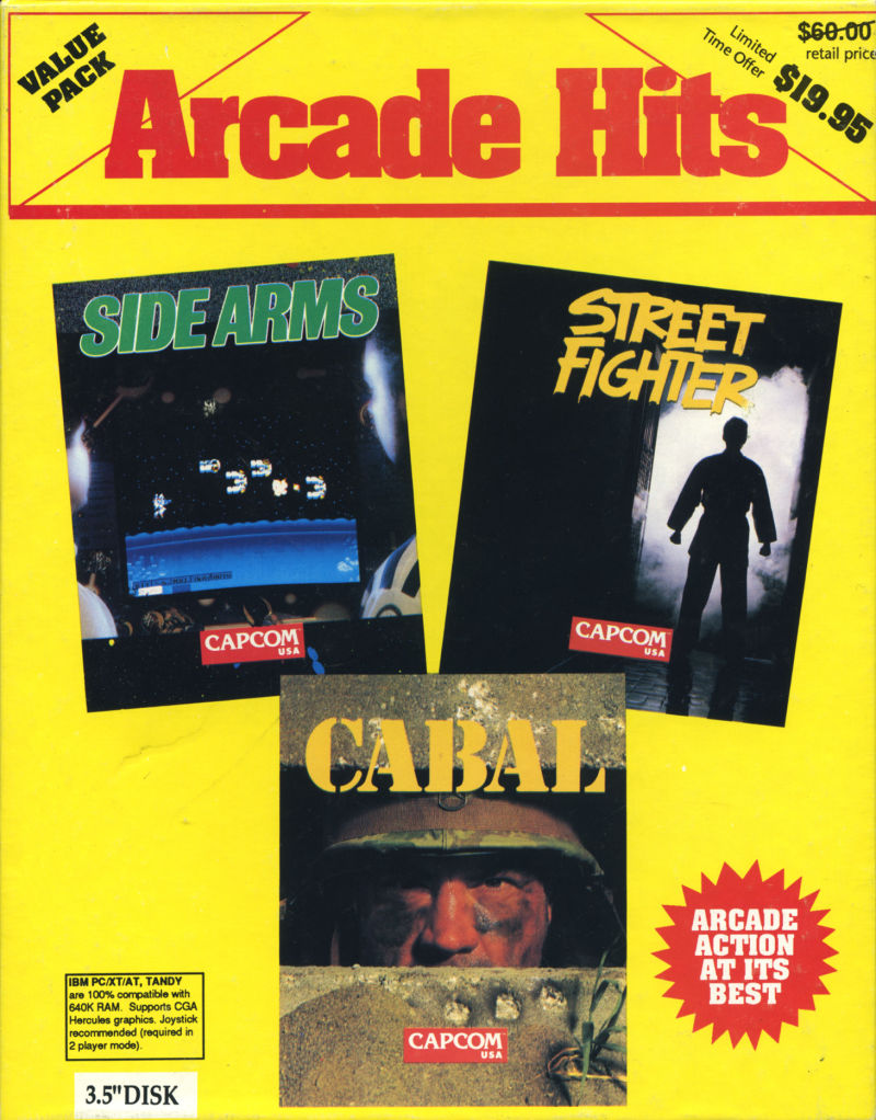 Arcade Hits DOS Front Cover