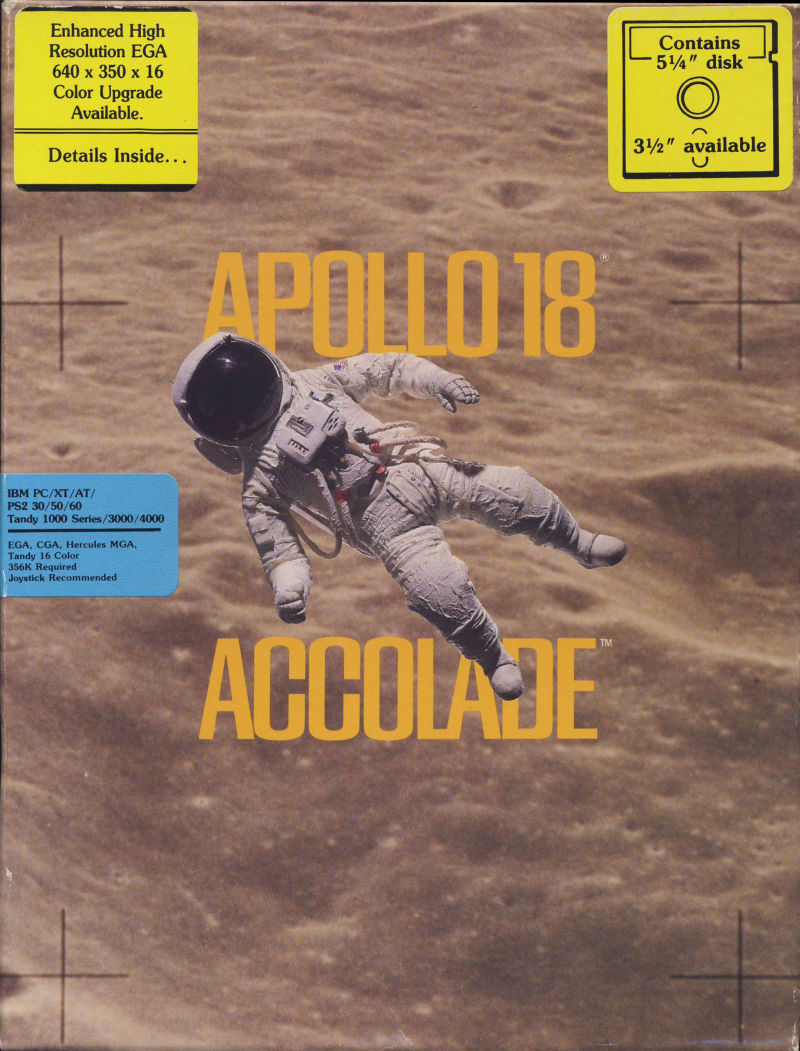 Apollo 18: Mission to the Moon DOS Front Cover