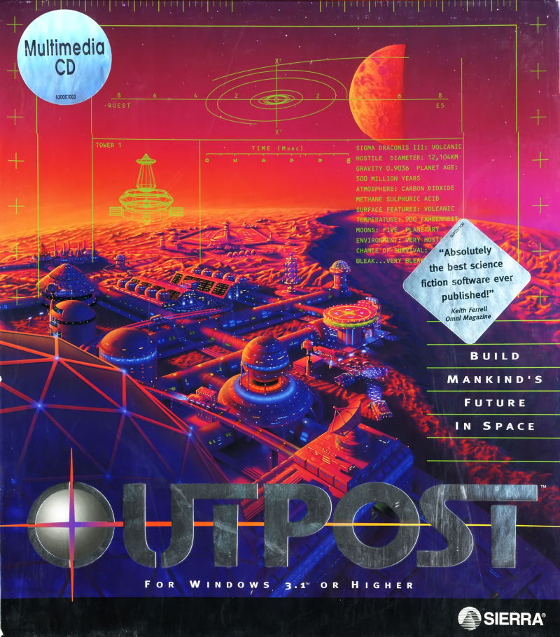 Outpost Windows 3.x Front Cover