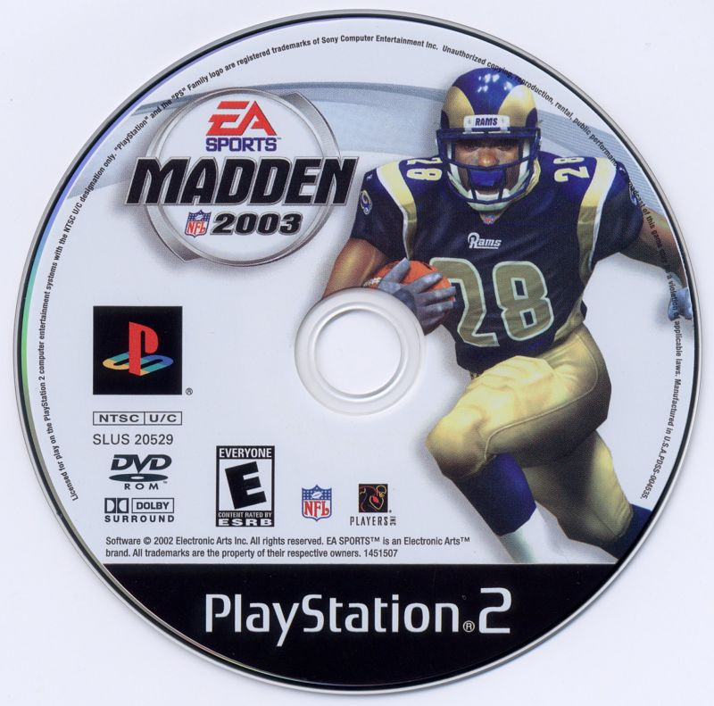 Madden NFL 2003 PlayStation 2 Media