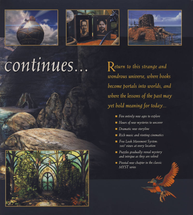 Myst III: Exile Macintosh Inside Cover Right