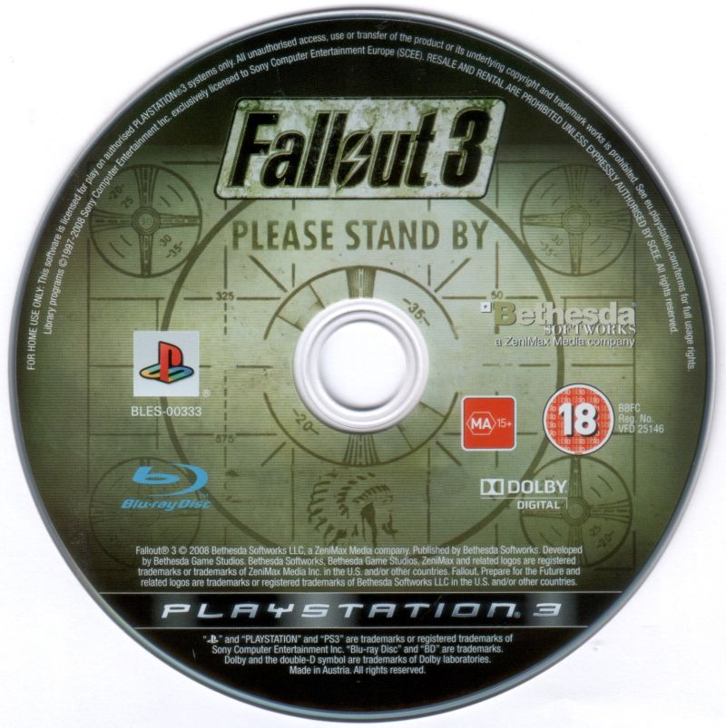 Fallout 3 PlayStation 3 Media