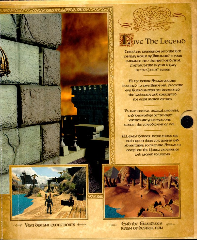 Ultima IX: Ascension Windows Inside Cover Flap Page Four