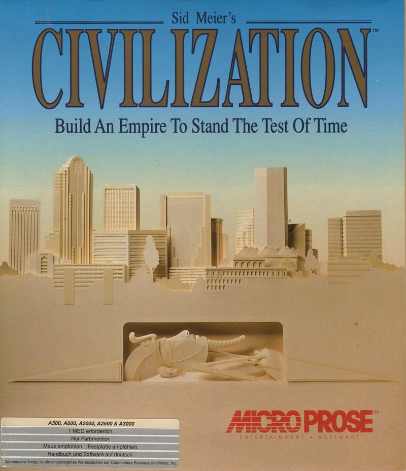 Sid Meier's Civilization Amiga Front Cover