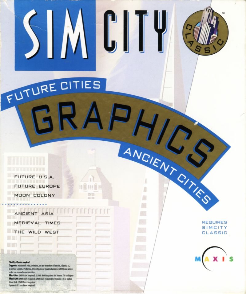 SimCity Classic Graphics Macintosh Front Cover