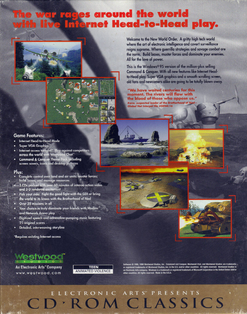 Command & Conquer (Special Gold Edition) (1997) Windows box