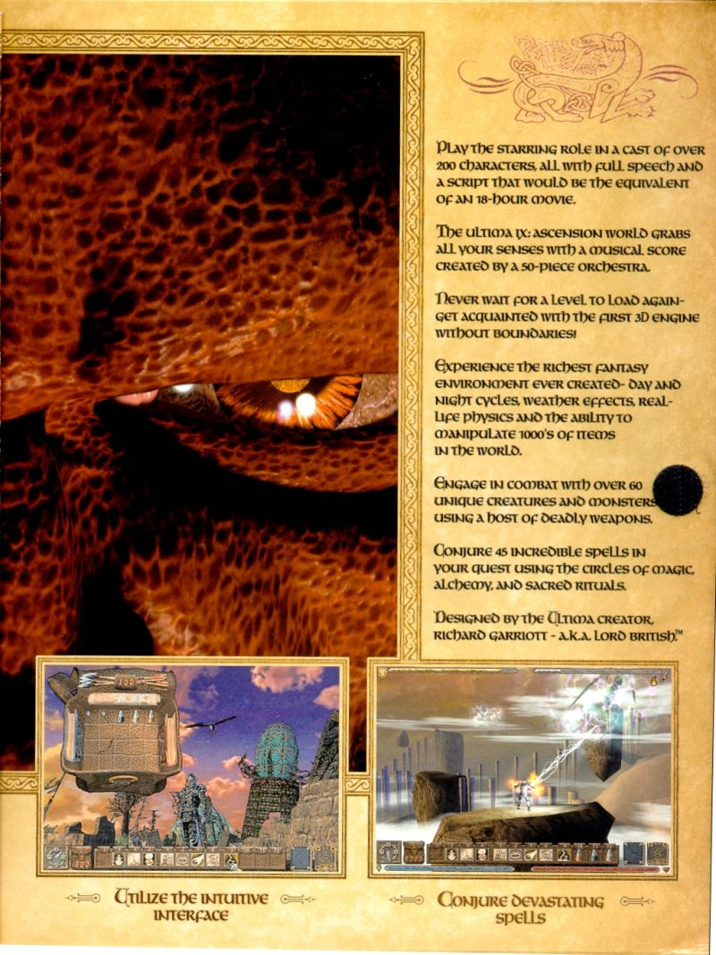 Ultima IX: Ascension Windows Inside Cover Flap Page Six