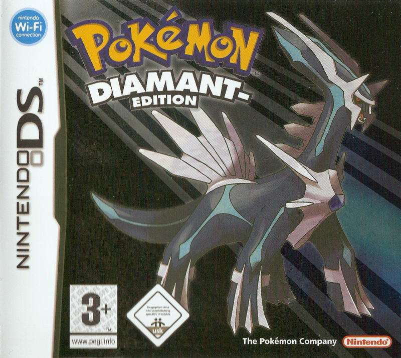 Pok mon diamond version 2006 nintendo ds box cover art mobygames - Pokemon rare diamant ...