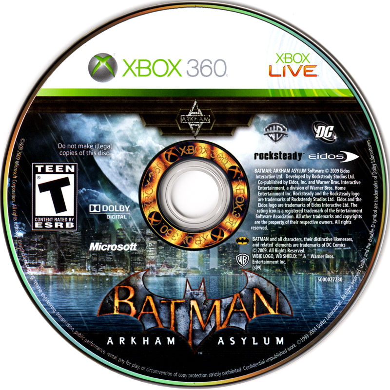 Batman: Arkham Asylum Xbox 360 Media