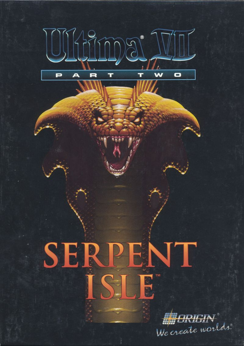Ultima VII: Part Two - Serpent Isle DOS Front Cover