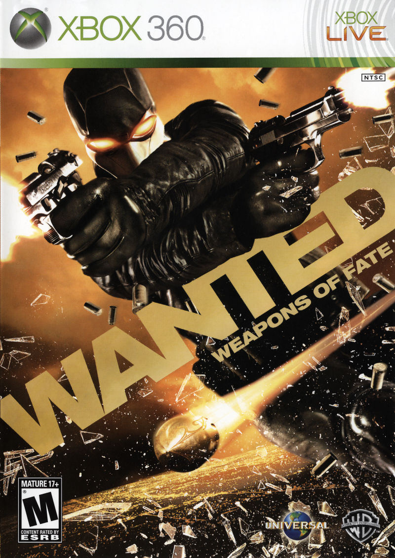 Wanted: Weapons of Fate Xbox 360 Front Cover