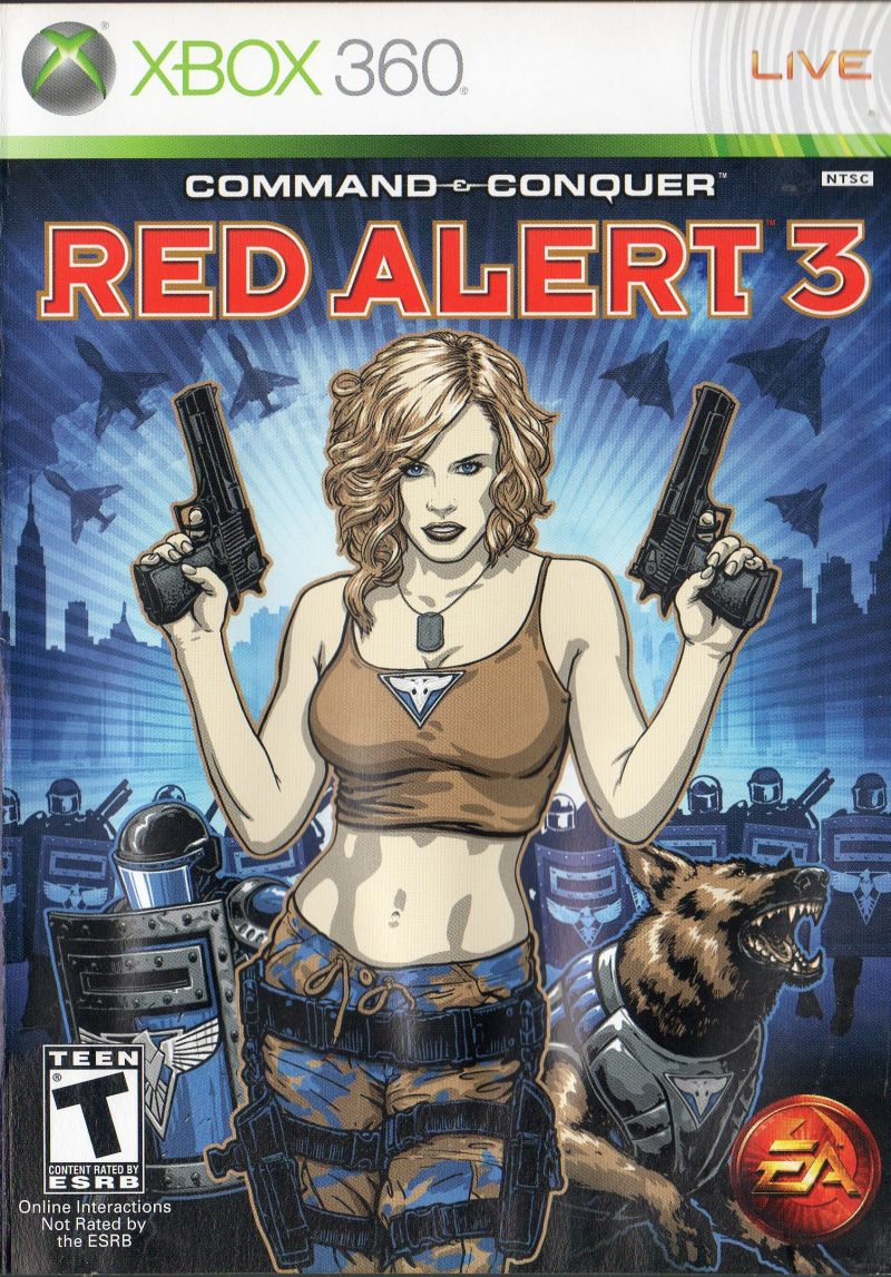 Command & Conquer: Red Alert 3 Xbox 360 Front Cover Reverse