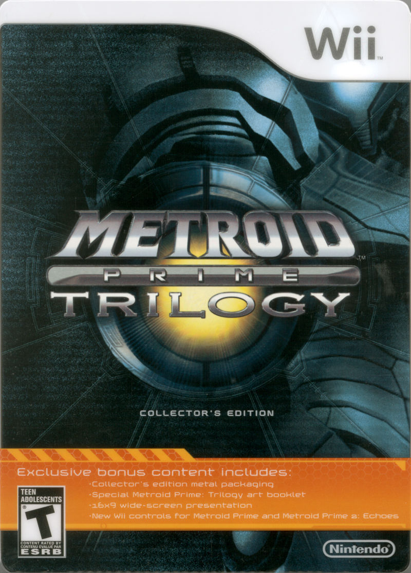 Metroid Prime Trilogy Wii Front Cover
