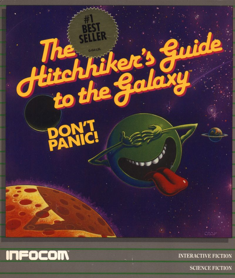 The Hitchhiker's Guide to the Galaxy TRS-80 Front Cover