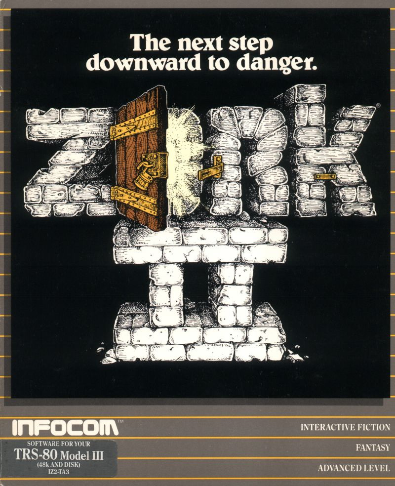 Zork II: The Wizard of Frobozz TRS-80 Front Cover