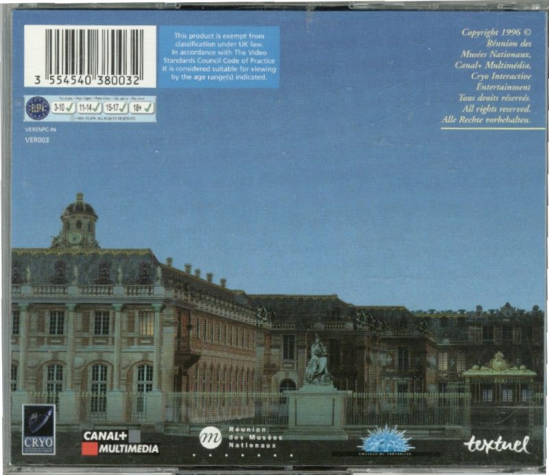 Versailles 1685 Windows Other Jewel Case - Back