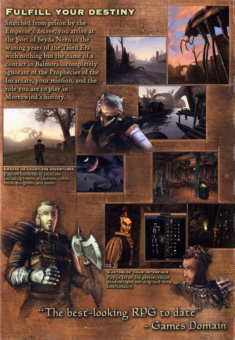 The Elder Scrolls III: Morrowind Windows Inside Cover Left Flap