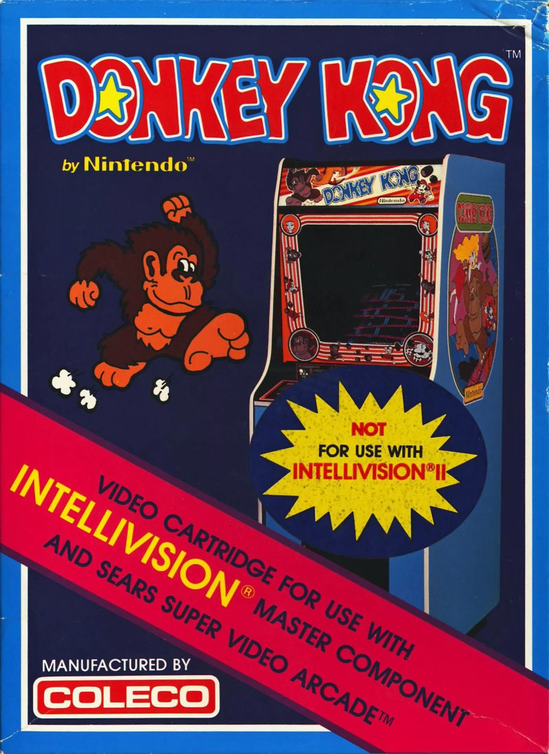 Donkey Kong Intellivision Front Cover
