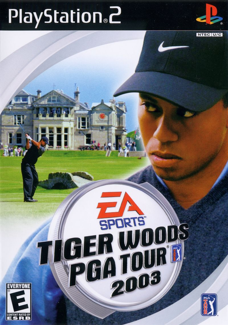 Tiger Woods PGA Tour 2003 PlayStation 2 Front Cover