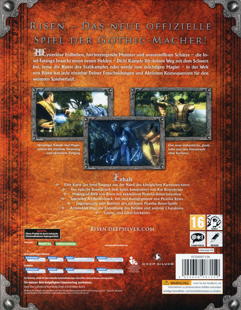 Risen (Collector's Edition) Windows Back Cover