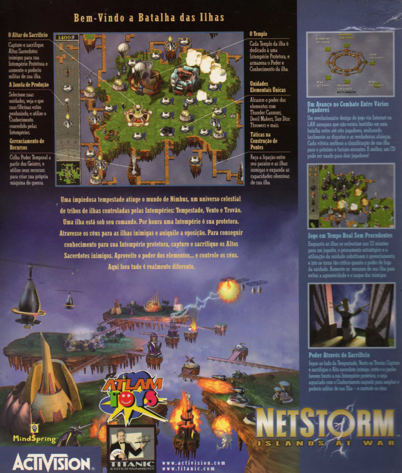NetStorm: Islands at War Windows Back Cover