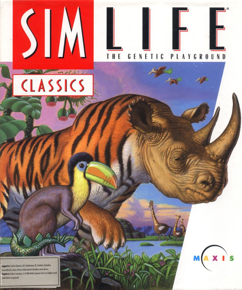 SimLife Macintosh Front Cover