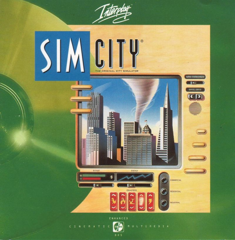 SimCity: Enhanced CD-ROM DOS Other Jewel Case - Front