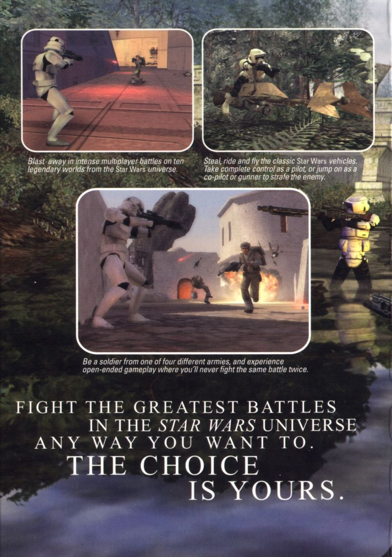 Star Wars: Battlefront Macintosh Inside Cover (left)