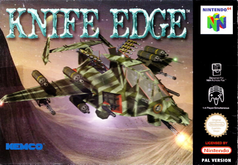 Knife Edge: Nose Gunner Nintendo 64 Front Cover