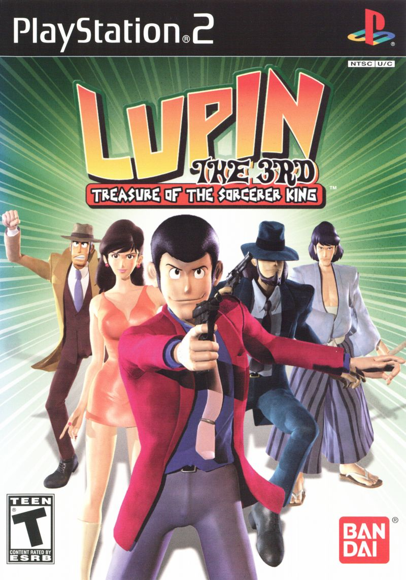 Lupin the 3rd: Treasure of the Sorcerer King PlayStation 2 Front Cover