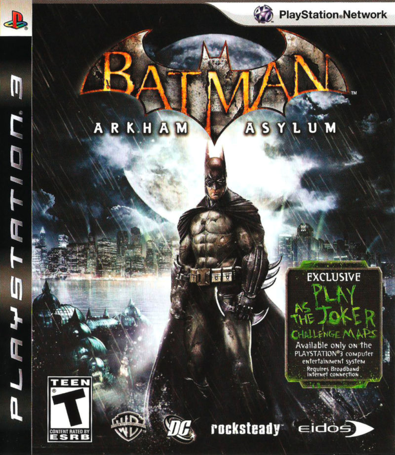 Batman: Arkham Asylum PlayStation 3 Front Cover