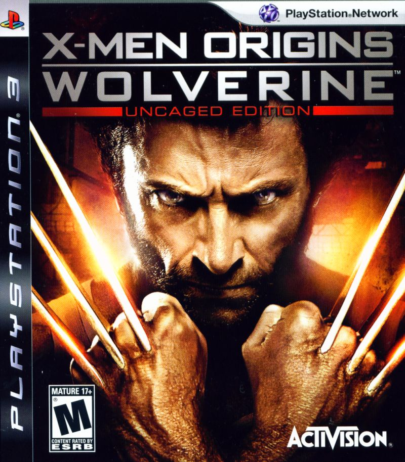 X-Men Origins: Wolverine - Uncaged Edition PlayStation 3 Front Cover