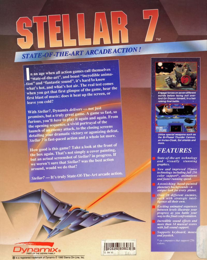 Stellar 7 DOS Back Cover